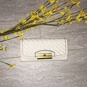 Authentic Coach Leather Basketweave Wallet